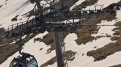 Stock Video Footage of Cable Car technics at Ski Paradise Matterhorn