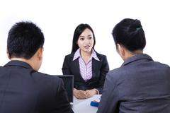 job interview - isolated - stock photo