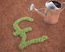 Cultivating Pound Sterling - stock photo