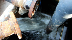 Waste water from industrial plant Stock Footage