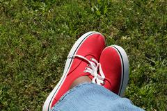 Jeans And Sneakers - stock photo