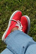 Jeans And Sneakers Stock Photos
