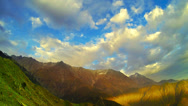 Stock Video Footage of 4K (3840 x2160) Himalayan landscape view time lapse. October 2013