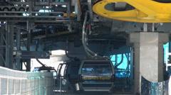 Matterhorn Express Cable Car Station close up Stock Footage