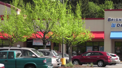 Bright Now Dental Building In Strip Mall 1 Stock Footage