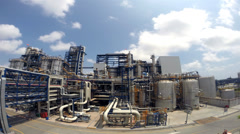 Chemical industrial plant with blue sky , 4K Time lapse Stock Footage