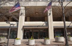 fbi headquarters, washington d.c. - stock photo