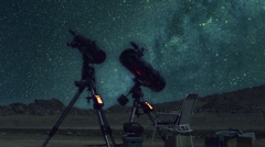 After Effects telescopes and stars lapse - stock footage