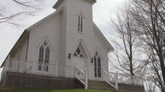 Old Church on Hill Stock Footage