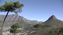 Leijonanpäätä ja Table Mountain, Cape Town Arkistovideo