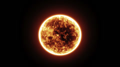 Sun with solar flares and sunspots Stock Footage