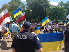 Stock Photo of Ukrainian protesters in Washington, D.C.