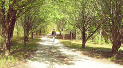 walking walk gravel road - stock footage