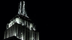 Empire State Building LED Light Show. Empire State Building Lights at Night Stock Footage