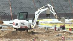 Construction Excavator Stock Footage