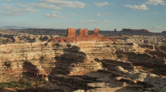 Canyonlands National Park the Maze District Panorama Stock Footage