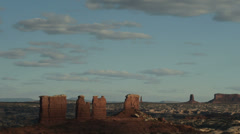 Canyonlands National Park the Maze District Chocolate Drops Butte Static Stock Footage