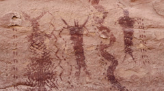 Pictographs Canyonlands National Park Maze District Harvest Panel Stock Footage