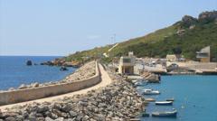 Gozo harbour Stock Footage