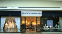 Brooks Brothers mall storefront Stock Footage