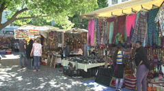 Greenmarket square shops, Cape Town Stock Footage