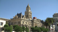 Cape Town city hall, closer view Stock Footage
