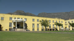 Castle of Good Hope inner courtyard, Cape Town Stock Footage