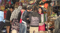 Bartering in Greenmarket square, Cape Town - stock footage