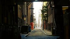 Dark City Alleyway - stock footage