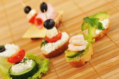 Delicious sandwiches Stock Photos