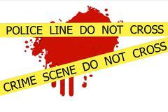 Crime scene do not cross Stock Illustration