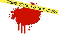 crime scene do not cross - stock illustration