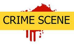 crime scene sign - stock illustration