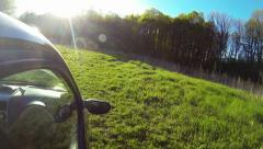 Driving a car rural scene. Stock Footage