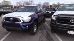 Puckup Trucks, Dealership, For Sale, New and Used Stock Footage