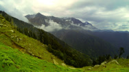 Stock Video Footage of Himalayan landscape overcast view time lapse. October 2013
