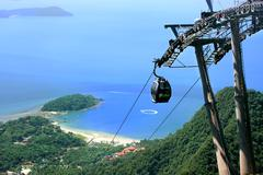 sky bridge cable car, langkawi island, malaysia - stock photo