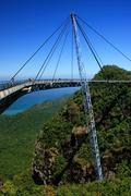 langkawi sky bridge, langkawi island, malaysia - stock photo