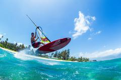 windsurfing - stock photo