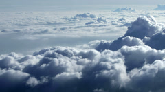 Above Clouds_The view out of an airplane - stock footage