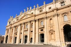 Maderno facade, saint peters basilica, vatican city, rome Stock Photos