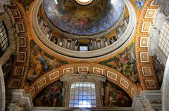 interior of saint peters basilica, vatican city, rome - stock photo