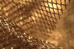 Golden fabric - stock photo
