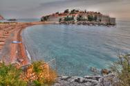 Stock Photo of old town of sveti stefan in montenegro