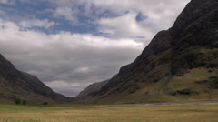 GLEN COE, HIGHLANDS, SCOTLAND Stock Footage
