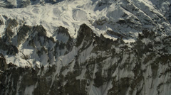 Stock Video Footage of Snowy Mountains. Aerial View: Annapurna conservation area, Nepal.