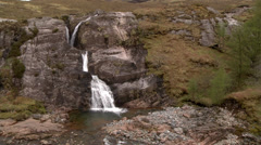 GLEN COE FALLS, HIGHLANDS, SCOTLAND Stock Footage