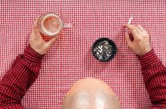 Beer drinker Stock Photos