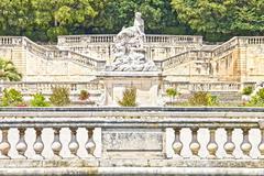 Park Jardin de la Fontaine in Nimes, France - stock photo