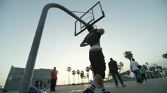 Pickup Basketball Game Stock Footage